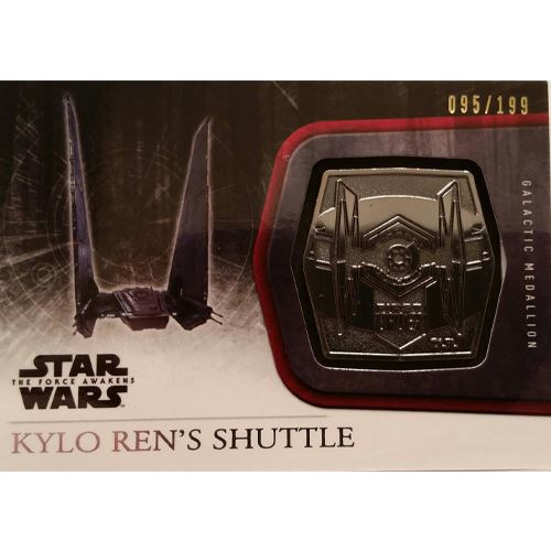 Topps 2015 The Force Awakens Series 1 - Kylo Ren's Shuttle Silver Medallion M-50 (95/199)