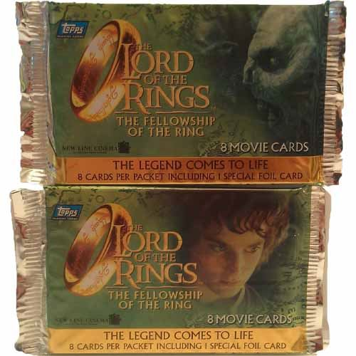 Bundle - 2 Packs - Topps 2001 Lord of the Rings/Fellowship of the Ring Movie Cards