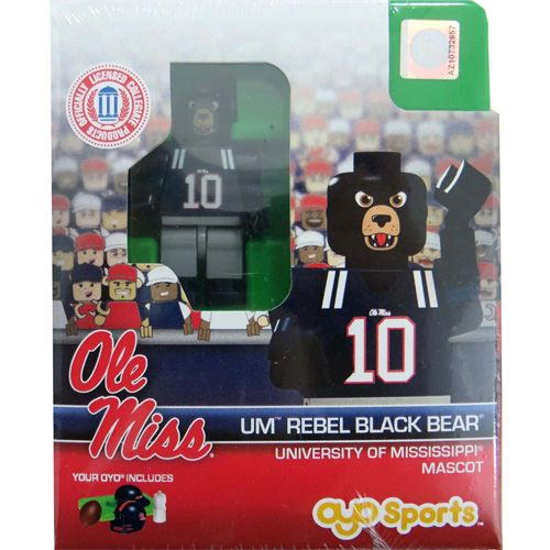 OYO NCAA Mascots - University of Mississippi - Rebel Black Bear