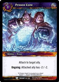 World of Warcraft TCG - Frozen Core (25) - Twilight of the Dragons