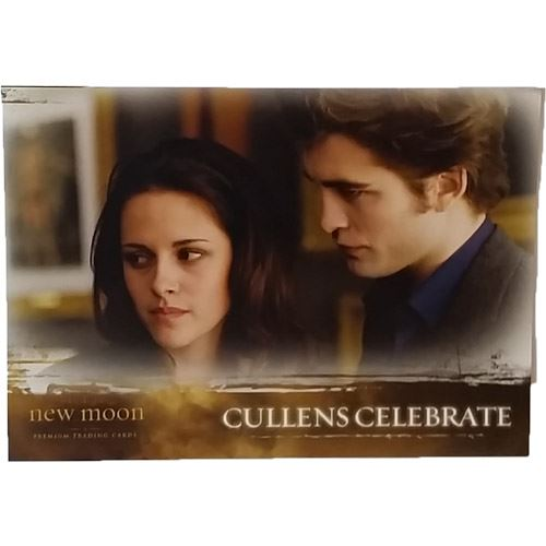 Twilight - New Moon Trading Card #33 - Cullens Celebrate