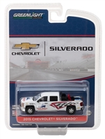 Greenlight - Hobby Exclusive - 2015 Chevrolet Silverado with Safety Equipment Diecast Vehicle