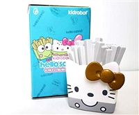 "Kidrobot Hello Sanrio 3"" Vinyl Figure - Hello Kitty French Fries Silver Gold"