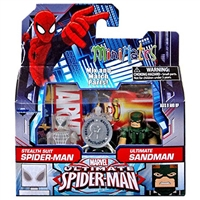 Marvel Minimates - Ultimate Spider-Man - Stealth Suit Spider-Man & Ultimate Sandman