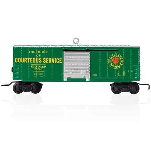 2015 Lionel Seaboard Boxcar Train Ornament
