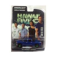 Greenlight Hollywood Series 16 - 2014 Chevrolet Silverado (Hawaii Five-O) - Green Machine Chase