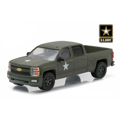 Greenlight - Hobby Exclusive - 2015 Chevrolet Silverado 1500 (US Army Lssv) Diecast Vehicle