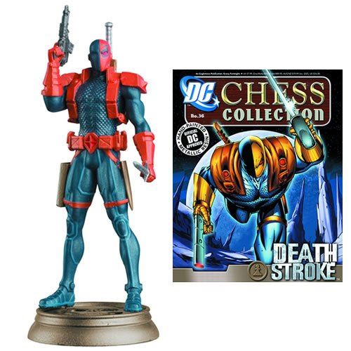DC Chess Figure & Magazine #36 Deathstroke (Black Pawn)