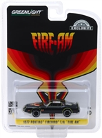 Greenlight - 1977 Pontiac Firebird Fire Am Very Special Equipment (VSE) - Black with Hood Bird (Hobby Exclusive)