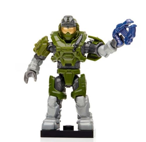 Halo Charlie Series - Green Grenadier Spartan w/ new Plasma Pistol - Loose
