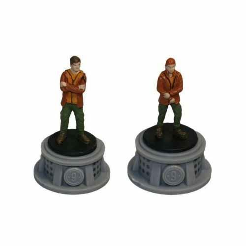 Bundle - 2 Items - The Hunger Games Figurines - Set of 2 Tributes - District 9