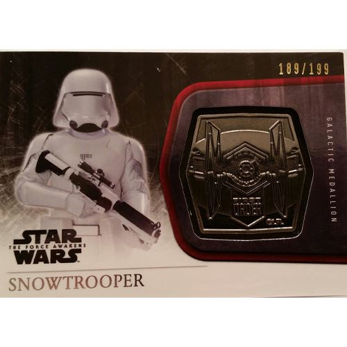 Topps 2015 The Force Awakens Series 1 - Snowtrooper Silver Medallion M-58 (189/199)