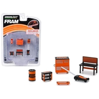 Greenlight Muscle 6 Piece Set Shop Tools FRAM Oil Filters