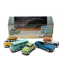 Greenlight Motor World Diorama North Shore Surf Shack 5 Car Set