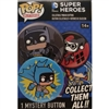 Funko POP! Buttons - DC Comics Super Heroes - TV Batman