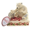 Jim Shore - HOLIDAY TREAT Polyresin Polar Bear Present Coca Cola