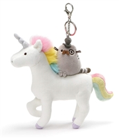 GUND Pusheen Fancy and Unicorn Magical Kitties Plush Deluxe Keychain Clip, Multicolor, 8.5""