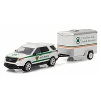 Greenlight - Hitch & Tow Series 7 - 2015 Ford Explorer w/ NYC Parks & Recreation Trailer