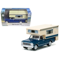 Greenlight - Hobby Exclusive - 1968 Chevrolet C-10 with Large Camper Diecast Vehicle