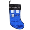 "Kurt Adler 18"" Holiday Stocking- Doctor Who Tardis Police Box"