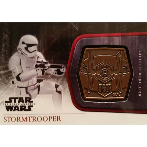 Topps 2015 The Force Awakens Series 1 - Stormtrooper Bronze Medallion M-45