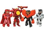Minimates Marvel Avengers Vs X-men - Scarlett Witch, Phoenix Force Cyclops, Phoenix Buster Ireon Man & Protector