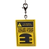 Kidrobot - Bob's Burgers Vinyl Keychain - Food May Contain Human Flesh Burger Sign