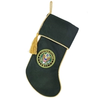 "Kurt Adler 19"" Holiday Stocking - US Army Rope Braided Christmas Stocking"