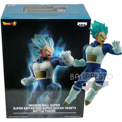 Banpresto DragonBall ichiban kuji B Super Saiyan God Vegeta Figure Super Warrior Battle