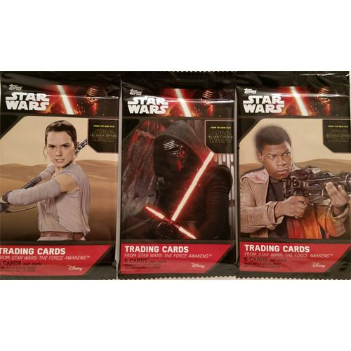 2015 The Force Awakens Series 1 Trading Cards - 3 - 6 Card Packs
