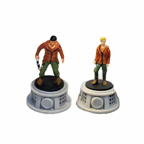Bundle - 2 Items - The Hunger Games Figurines - Set of 2 Tributes - District 7