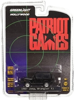 Greenlight - Hollywood Series 13 - Patriot Games (1992) - 1987 Jeep Wrangler YJ Diecast Vehicle