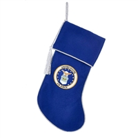"Kurt Adler 19"" Holiday Stocking - US Air Force Rope Braided Christmas Stocking"