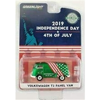 "Greenlight - Volkswagen T2 Panel Van 4th of July, Independence Day 2019""""Hobby Exclusive (Green Machine)"