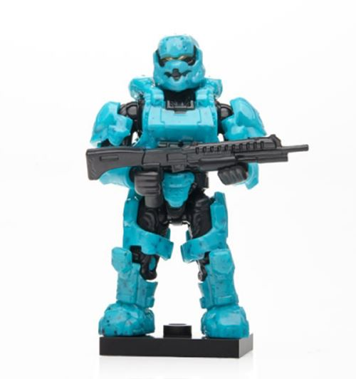 Halo Charlie Series - Cyan Spartan Soldier w/ Shotgun - Sealed