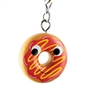 Kidrobot Yummy World Attack of the Donuts Keychain Series - Yellow Drizzled Red Frosted (2/24)