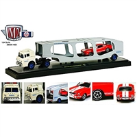 M2 Machines - Auto-Haulers (R15) - 1964 Ford C-950 (WHITE) & 1966 Shelby GT350 (RED)