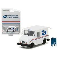 Greenlight - United States Postal Service (USPS) Long Live Postal Mail Delivery Vehicle (Llv) with Mailbox Accessory Hobby Exclusive