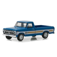 Greenlight - 1976 Ford F-100 Pickup Truck Bicentennial Option Group Bahama Blue Hobby Exclusive