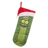"Kurt Adler 19"" Holiday Stocking - Rick and Morty Pickle Rick with Santa Hat"
