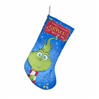 "Kurt Adler 19"" Holiday Stocking - Dr. Seuss' The Grinch Young Grinch"