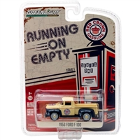 Greenlight - Running on Empty Series 1 1956 Ford F-100 Red Crown Gasoline