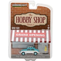 Greenlight Collectibles - The Hobby Shop Series 1 - Classic Volkswagen Beetle w/ Woman Wearing Dress