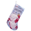 Kurt Adler Holiday Stocking- Despicable Me-I Love Fluffy Unicorns