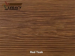 Allura, Pre-Finished Fiber Cement Cedar Lap Siding - Red Teak Stain