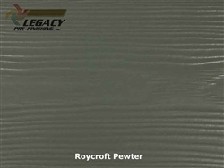Allura, Pre-Finished Fiber Cement Lap Siding - Roycroft Pewter