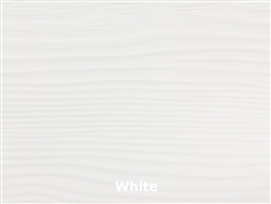 Prefinished Allura Fiber Cement Lap Siding - White