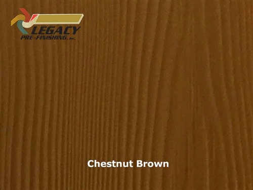 Allura Prefinished Vertical Panel Siding - Chestnut Brown