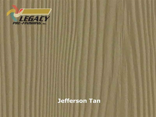 Allura Prefinished Vertical Panel Siding - Jefferson Tan