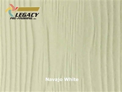 Allura Prefinished Vertical Panel Siding - Navajo White
